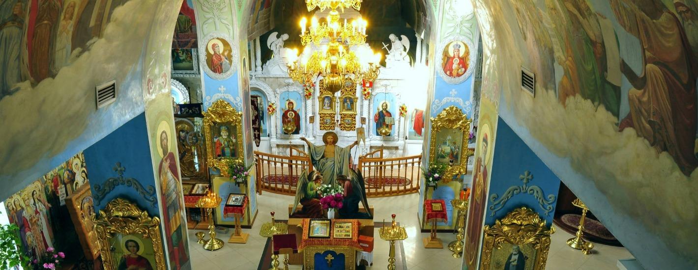 Вид храма изнутри